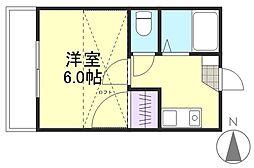 サンシャイン22[2階]の間取り