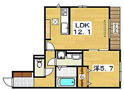 Sakura Liante 樟葉[1階]の間取り