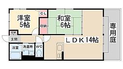 兵庫県宝塚市山本南3丁目の賃貸アパートの間取り