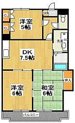 原第8マンション[205号室]の間取り