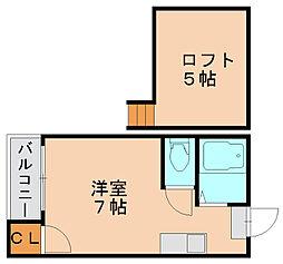 エスポワール博多2[2階]の間取り