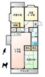 パールアベニュー223[3階]の間取り