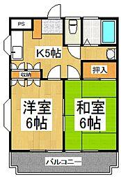 レジデンスメウミシマ[2階]の間取り