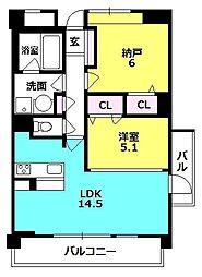 セリシール夙川苦楽園[3階]の間取り