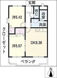 BIGBENRESIDENSE[1階]の間取り