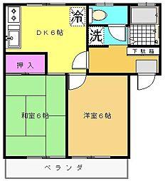 埼玉県所沢市上新井3丁目の賃貸アパートの間取り