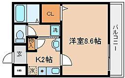 兵庫県神戸市兵庫区松本通2丁目の賃貸アパートの間取り