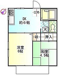フラワーハイツB棟[2階]の間取り