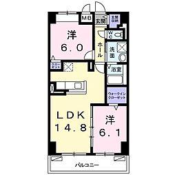 畑田町店舗付マンション[0606号室]の間取り