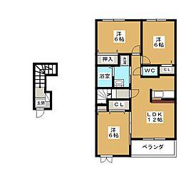 メゾン・ダンデライオン B[2階]の間取り