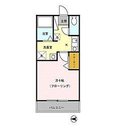 東京都小平市上水南町1丁目の賃貸アパートの間取り