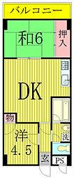 ゴールデンハイツ[3階]の間取り