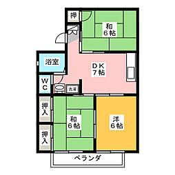ハイツカプチュール A棟[2階]の間取り