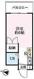 埼玉県川越市熊野町の賃貸マンションの間取り