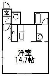 北海道札幌市西区山の手三条1丁目の賃貸アパートの間取り