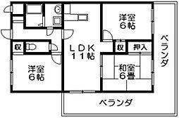 グランエストヨシタ 中新開2 吉田4分[4階]の間取り