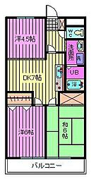 メゾンサイブ[2階]の間取り