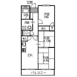 バルカン富田林[3階]の間取り