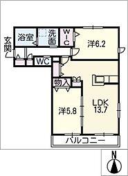ヘーベルメゾンM・A[2階]の間取り