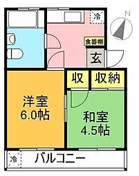久我山サニーマンション[102号室]の間取り