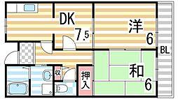 メゾンさくら[2階]の間取り