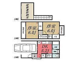 [テラスハウス] 千葉県千葉市若葉区小倉台4丁目 の賃貸【/】の間取り