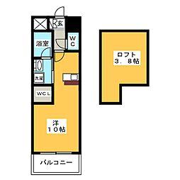 アソシアグロッツォ・クアトロ博多[14階]の間取り