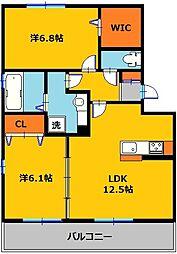 メゾンアーバンI[1階]の間取り