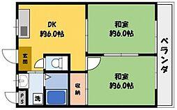 MIWA第3ビル[4階]の間取り
