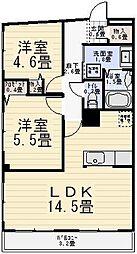 パークサイドaoi[102号室]の間取り