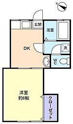 内田荘[2階]の間取り
