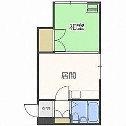 グランドマンション[4階]の間取り
