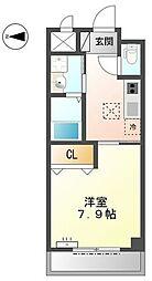 名鉄常滑線 大江駅 徒歩4分の賃貸アパート 1階1Kの間取り