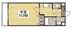 URBANO奥田 1階1Kの間取り