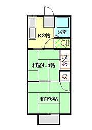 パナハイツ宮沢[105号室]の間取り