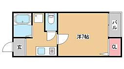 兵庫県神戸市長田区梅ヶ香町1丁目の賃貸マンションの間取り
