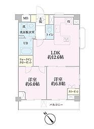 中新井サンライトマンション[408号室]の間取り