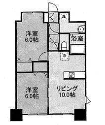 グランメールコート白銀[4階]の間取り