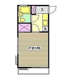 花栗INN[203号室]の間取り