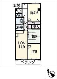 リバビュー長嶋 M−7[3階]の間取り