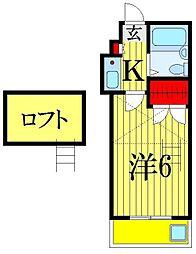 クレール津田沼−2[1階]の間取り