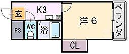 ウィンライフ山本[1階]の間取り