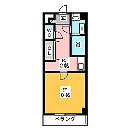 ニューメゾン森安[2階]の間取り