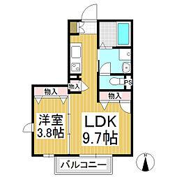 仮)佐久シャーメゾン[2階]の間取り