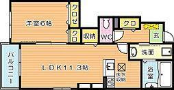 ネオグリーンレジデンス B棟[1階]の間取り