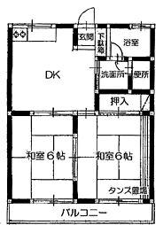 コーポ香山[103号室]の間取り