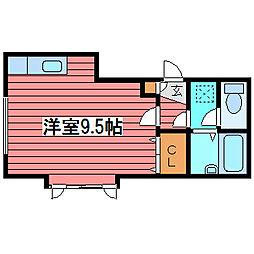 KOKOMO月寒[3階]の間取り