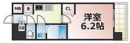 Osaka Metro千日前線 北巽駅 徒歩8分の賃貸マンション 10階1Kの間取り