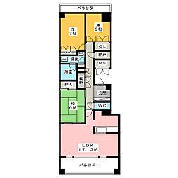 滝川グランドヒルズ サウスヒル 505号室[5階]の間取り