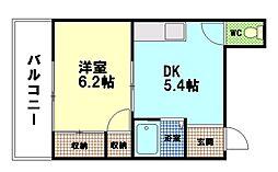 コーポラスマツモト5[4階]の間取り